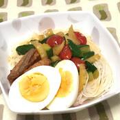 夏野菜でエスニック素麺