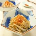 レンジでお手軽♪しょうがの風味を楽しむ☆白ごまたっぷりもやしのさっぱり二杯酢和え 時短・電子レンジ・もやし料理 -Recipe No.1460-