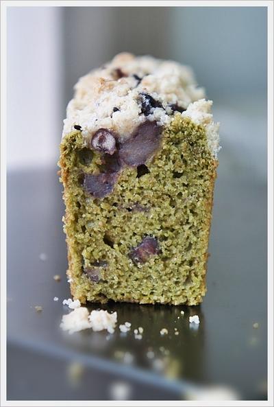 バター・卵・砂糖なし!抹茶&小豆&黒胡麻クランブルのケーキ レシピ
