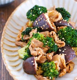 豚こまとブロッコリーのオイスター炒め【#作り置き #お弁当 #フライパンひとつ #主菜 #中華風】