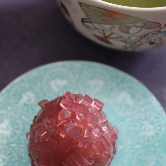 ラグートカシスで簡単紫陽花の和菓子