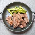 にんにくの芽とステーキ焼き
