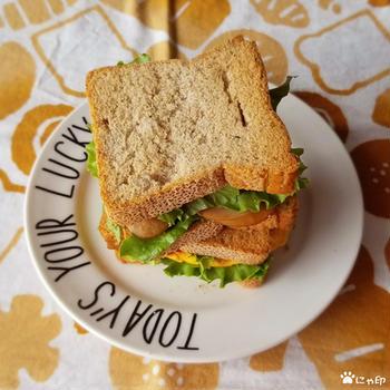 今日のMy弁当「グルテンフリーパンでサンドイッチ。」