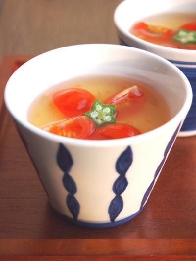 夏バテ時に!冷やし茶碗蒸し トマトあんかけ