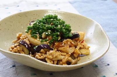11/07/21 茄子とキムチの甘酢炒め