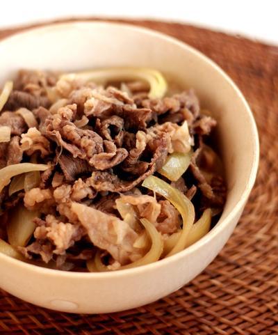 麺つゆDE簡単過ぎる牛丼