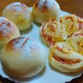 テーブルパンとハムロール