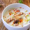 *鶏肉とキャベツの中華風味噌ミルクスープ*具沢山の食べるおかずスー...