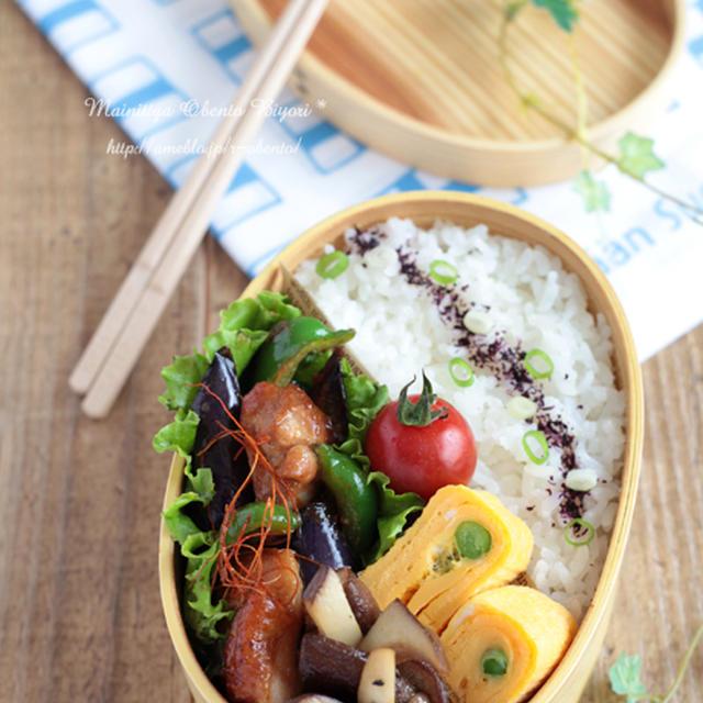 茄子と鶏肉のピリ辛味噌炒め弁当~パパのお弁当~