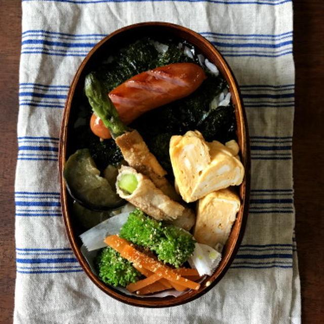 【おべんとう】肉巻きウインナー海苔弁当と、困ったときのそぼろ弁当