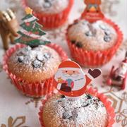 バター不要!混ぜて焼くだけチョコチップマフィン~クリスマス~