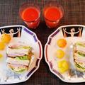 美味しいハムを選んだペッパーボンレスハム3種類のサンドイッチ♪~♪ by みなづきさん