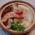 天ぷらのっけ鍋焼きうどん