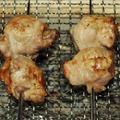 『プチトマトの豚肉巻き』の炭火焼