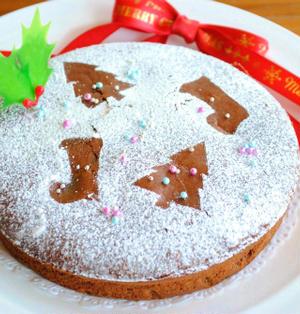クリスマスに☆ホットケーキミックスで♪チョコレート チーズケーキ ☆