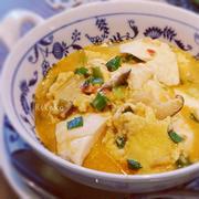 豆腐のチリスープ