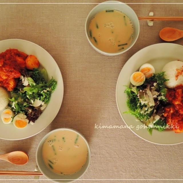 鶏肉と野菜のトマト煮込み。