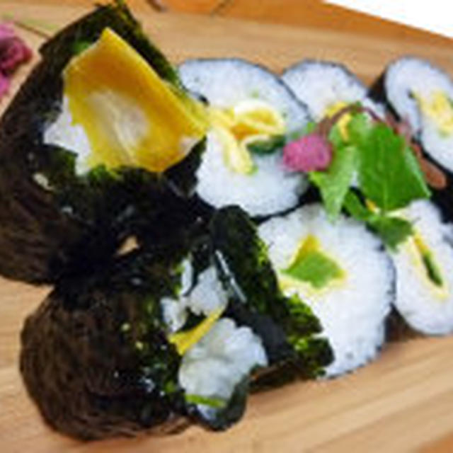 三つ葉の巻き寿司