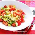 腸活で夏バテ防止&美肌にも!ひんやり美味しい★トマトとアボカドの冷製パスタのレシピ