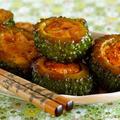 ゴーヤの肉詰めチキン照り焼き(動画レシピ)