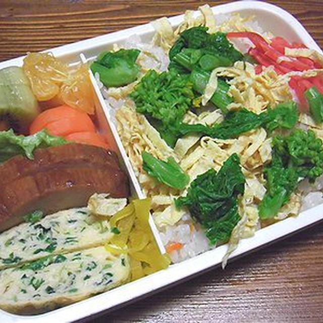菜の花ちらし寿司弁当