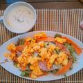 サラダとスープでプロテイン強化ランチ by にゃあぱんさん