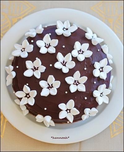 マシュマロ☆ チョコレートフラワーケーキ