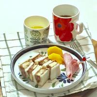 ★チョコ豆腐クリームとバナナのサンド