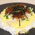 いくらとツナのちらし寿司/さんま水煮缶で作るさんま飯のいくらのせ(*´▽`*) by もぐたもぐおさん
