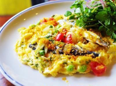 自家製ハーブオイルサーディンの卵焼き&香草サラダ 西山 慎一郎シェフのレシピ