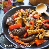 簡単♪ガパオで回鍋肉風な茄子と豚肉の炒めもの