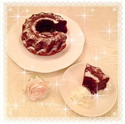 クグロフ型で簡単ガトーショコラ(卵は共立て)☆レシピ