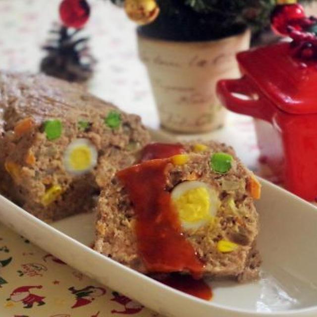 * クリスマス親子レシピ *「 型なし・オーブン不要」 レンジDEミートローフ *  TV出演レシピです(*^▽^*)