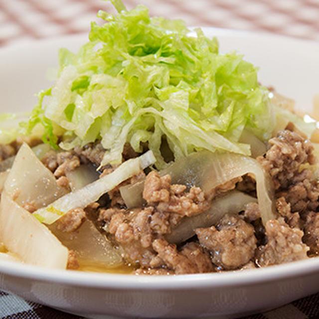 シンプルな味付けでもおいしい、大根とひき肉の炒め煮。