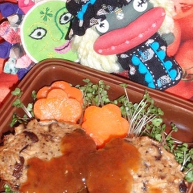 きのこバーグの甘酢あん&新玉ネギのトマト煮(お家カフェ)