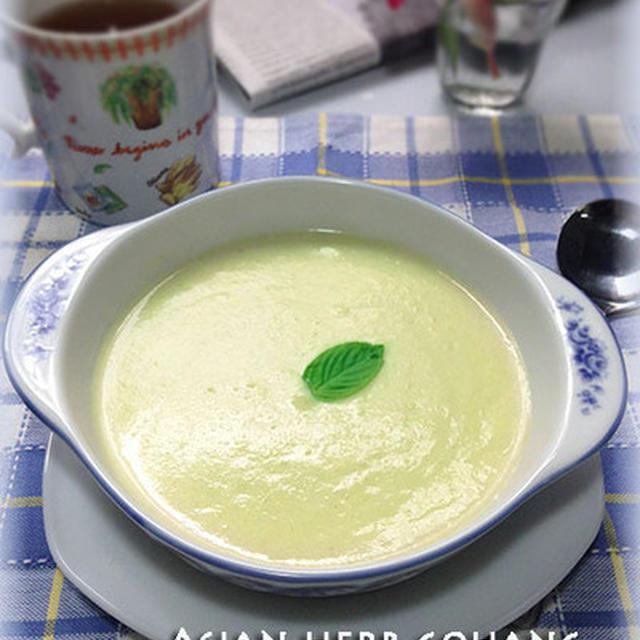 冷製アスパラと豆乳のスープ♪ノンオイル