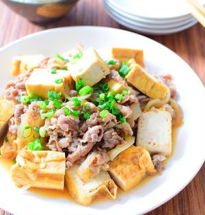 厚揚げと牛肉のしょうゆ炒めのレシピ
