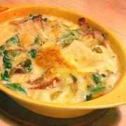 高野豆腐と豆乳でヘルシー濃厚グラタン