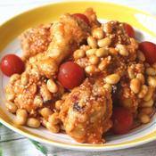 鶏手羽元のガーリックトマト炒め