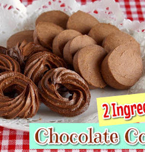 材料2つでアイスボックスと絞り出しチョコレートクッキー (動画レシピ)