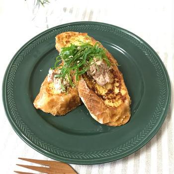 レシピ【ツナマヨ!和風フレンチトースト】
