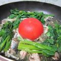 春野菜とイワシ缶のアクアパッツア