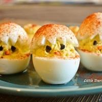 【ひよこのエッグサラダ】子供達のだ〜い好きなデビルドエッグ!らっきょう入りだよ!