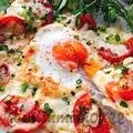 油揚げで簡単ピザ!トマトとにんにくのビスマルク風