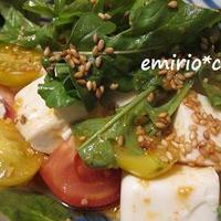トマトと豆腐の韓国風サラダ