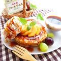 伯方の塩アンバサダー☆柿と塩キャラメルソースのパンケーキ☆フルールドセル使用 by ルシッカさん