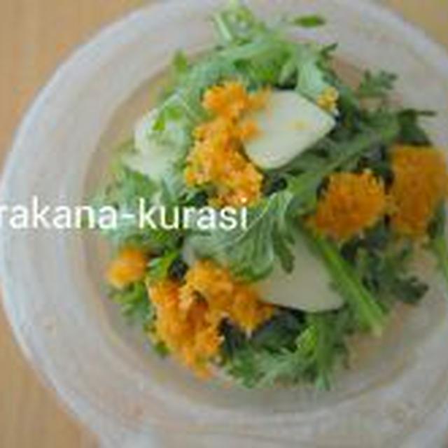 【ストレス解消!?】春菊とりんごのサラダ