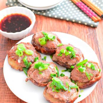 【タレも美味しい】はがれにくい!しいたけの肉詰めのレシピ