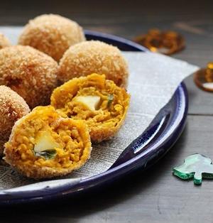■モッツァレラチーズ入りかぼちゃのうまうまコロッケ♪