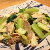干しエビを使った豚肉と小松菜の炒め